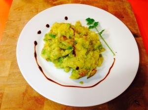 Calabacin con patata y cebolla